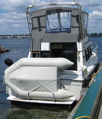 Dinghy Davit Pivot Up System For Inflatable Boat Davit